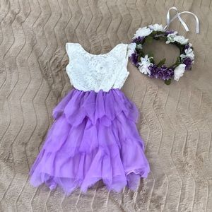 Dress and flower crown